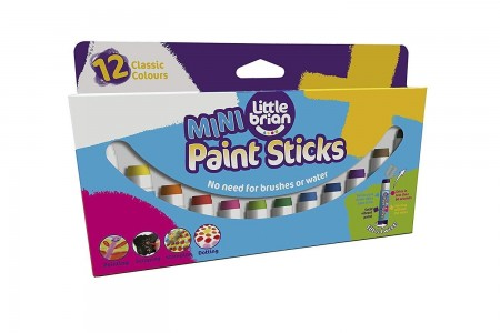 Little Brian Mini Paint Sticks in 12 Assorted Colours